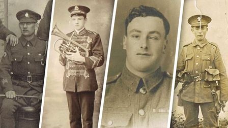 From L to R: George, Bertie, Joseph and Arthur Muteham all fought in the First World War