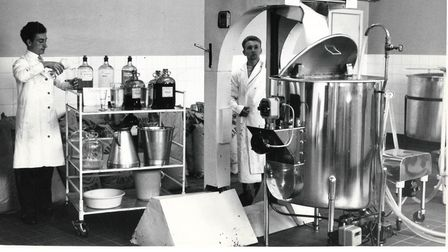 The Quality Control department at the Norwich Mile Cross Lane Corona Works in July 1960 ensured that