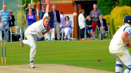 Day one of Norfolk's Minor Counties Championship clash with Suffolk at Copdock - Adam Todd opening t
