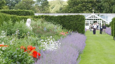 Visitors in the walled garden at Houghton Hall.Photo: Graham CorneyCopy: Sarah Hardy Sat.Mag. Qa