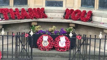 City of Ely branch of the Royal British Legion thank-you display made by Sarah Martin