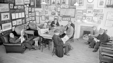 Inside the Sailors Reading Room in Southwold in 1971