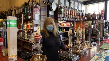 Sharon Erskine, manager at the Three Tuns, in Bungay.