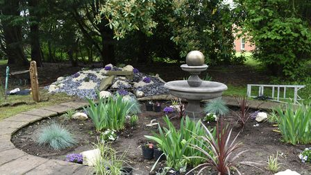 Some of the features of the new memorial garden being created at Hadleigh Nursing Home