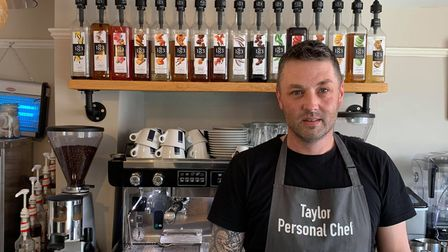 The owner of Taylortea room, Taylor James.