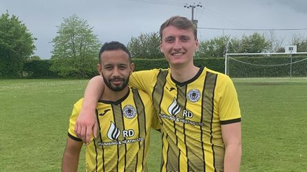 Emilio Caceres Sola (left) and George Paola of High Easter FC