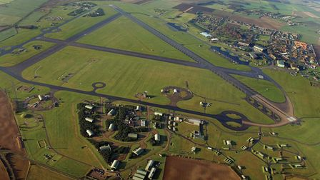 Aerial view of RAF Marham.Picture taken by Mike Page.