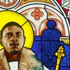 American artist Kehinde Wiley's portrait 'Saint Adelaide' is now on display at The Stained Glass Museum in Ely.