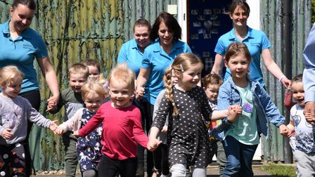 The pre-school's youngsters will also take part in their own challenge