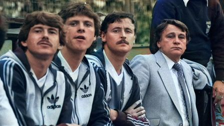 Bobby Robson on bench