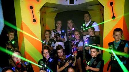 Children playing laser tag at Planet Laser in Bury St Edmunds
