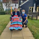 Margaret, 106, took part in the eight-hour relay to raise money for Indian Covid relief