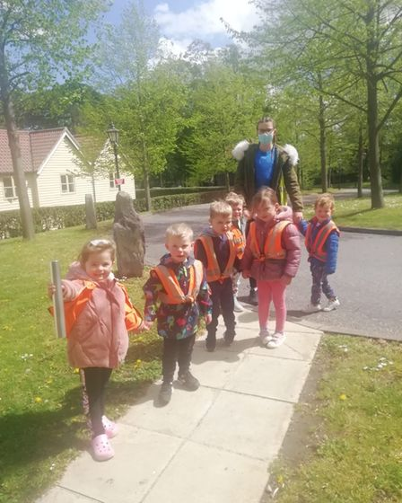 Children from Scallywags Day Nursery took part in the eight-hour relay