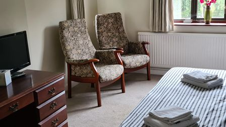 Beds are made and dressed with towels in the former B&B, which has stood empty since its last owners