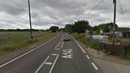 The A143 at Stanton remains closed following the collision