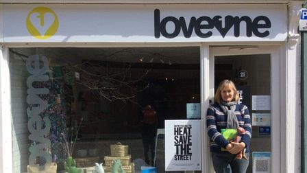 Cathy Frost of Loveone, who was a finalist for the high street hero award at the Small Awards