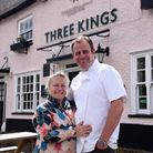 Chris and Hayley Lee of the Bildeston Crown at their new pub The Three Kings in Fornham