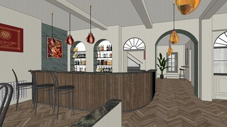 A mock-up of what the Red Lion Lounge could look like.