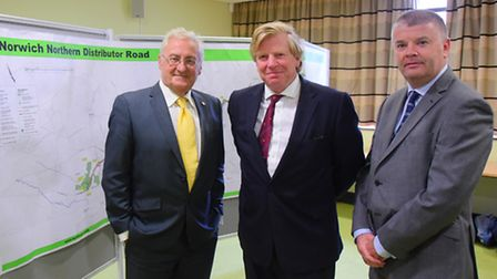 George Nobbs, leader of Norfolk County Council, Toby Coke, chairman of the environment,development a