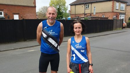 Andy Cole and Toni Alcaraz of March Athletics Club