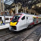 The new Greater Anglia train arrives at London Liverpool Street.