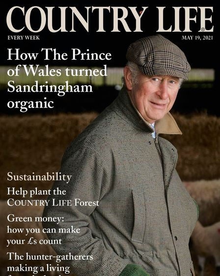 Cover image from Country Life magazine, 19th May 2021. Pictured: HRH The Prince of Wales at the Sand