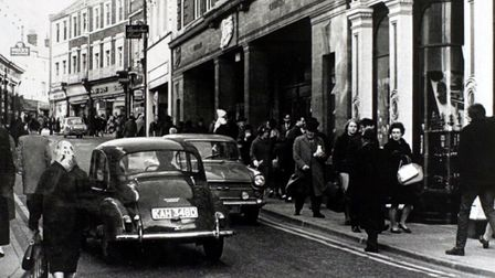 (2of7) Pic for Centro feature - Norwich Society feature - London Street in 1967 before the street wa