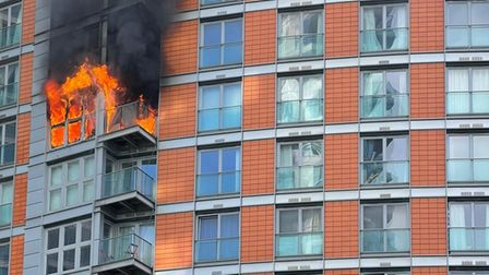 8th floor dramatic blaze at New Providence Wharf on May 7 that spread rapidly to9th and 10th floors.