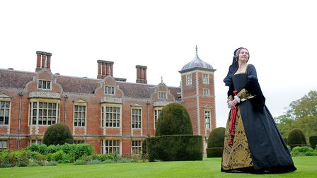Flashback to 2012, and The Anne Boleyn Festival at Blickling Hall. Molly Housego is pictured dressed