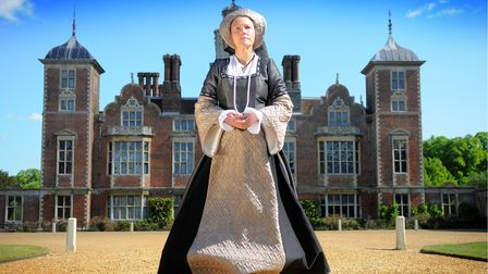 Margaret Ratcliffe dressed as Anne Boleyn at Blickling Hall. Guided tours will be given around the h