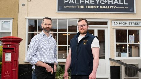 Shaun Palfrey and Deaglan Hall, owners of Palfrey and Hall butchers. Picture: Sarah Lucy Brown