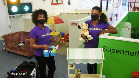 Sam Stannard, left, owner, and Nadine Melhardo, manager, at their roleplay centre, Tiddlywinks, as c