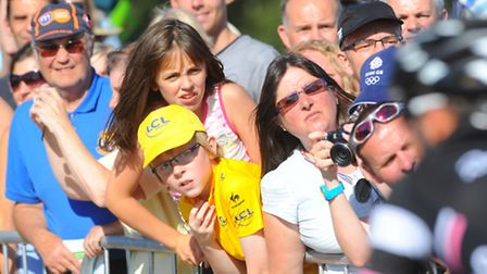 Action from the Royal Norfolk Showground, venue of the finish of Tour of Britain stage one in 2012.