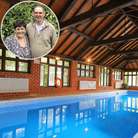 Deedee and Philip Lomax (inset) own Felbrigg Lodge Hotel