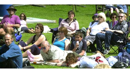 Enjoying the music at Clare World Music Festival in 2002