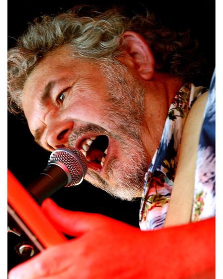 Paul Brown, lead singer with CRABS, local group the Clare Rhythm and Blues Society, at Clare World Music Festival in 2004