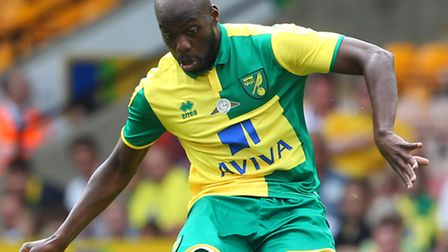 Youssouf Mulumbu plays with Norwich's new signing for the Democratic Republic of Congo. Picture by P