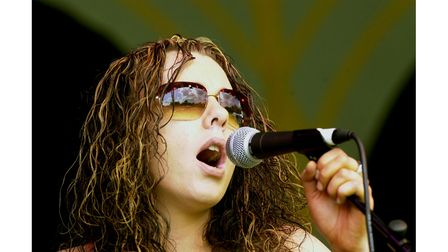 Chantal from Clare singing at the town's world music festival in 2002