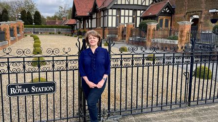 Author and former journalist Ellee Seymour's at Wolferton station in the royal Sandringham estate