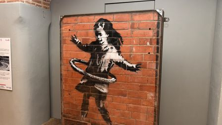 A brilliant art exhibition is showing at Moyse Hall Museum iin Bury, including the works of Banksy a