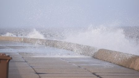 Some shots of the sea at Lowestoft. There was a strong easterly wind a prelude to the 'Beast From Th