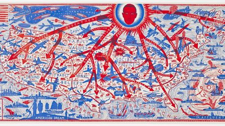 'The American Dream' portrays a map of the US inspired by Grayson Perry's tour of the country