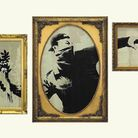 One of Banksy's most iconic works, 'Flower Thrower', is on display at Extraordinary Objects in Cambridge.