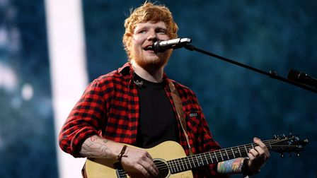 File photo dated 25/06/17 of Ed Sheeran performing on the Pyramid stage at Glastonbury Festival. Cla