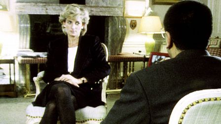 File photo dated 20/11/95 of Diana, Princess of Wales, during her interview with Martin Bashir for t