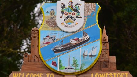 Lowestoft's town sign