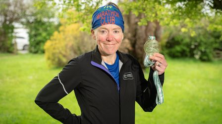 Karen Hamilton has just completed her 100th marathon and is set to run 100 miles this weekend. Pict