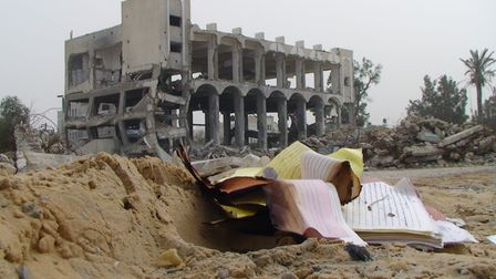 Thepolice training academy in Gaza,which was bombed on graduation day when Patrick Ward was there