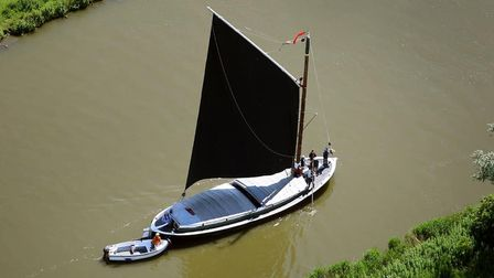Wherry Maud is one of the best loved sights on the Norfolk Broads.