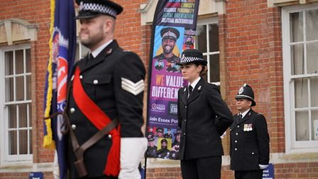 Essex Police's passing out parade took place on a wet and windy day in Chelmsford